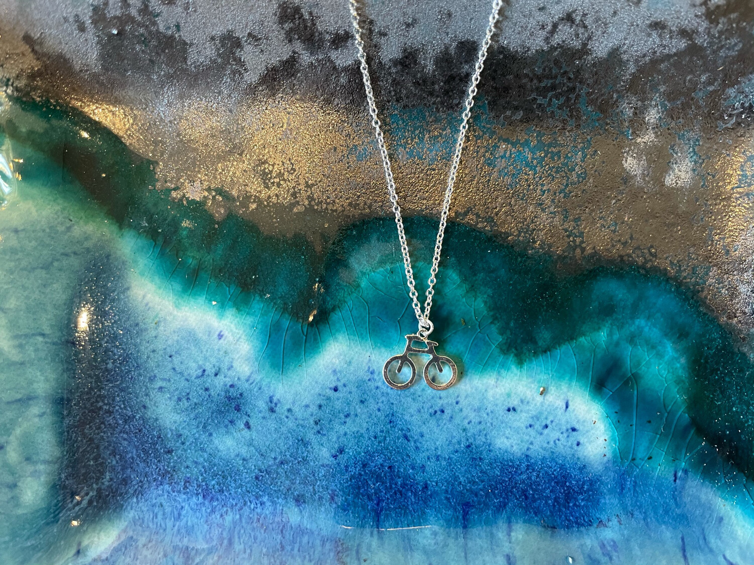 Bicycle Necklace - Silver