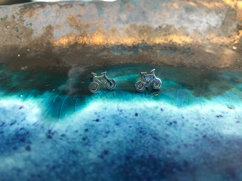 Bicycle Earrings