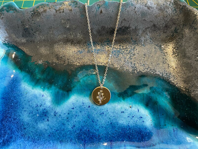 Etched Necklace