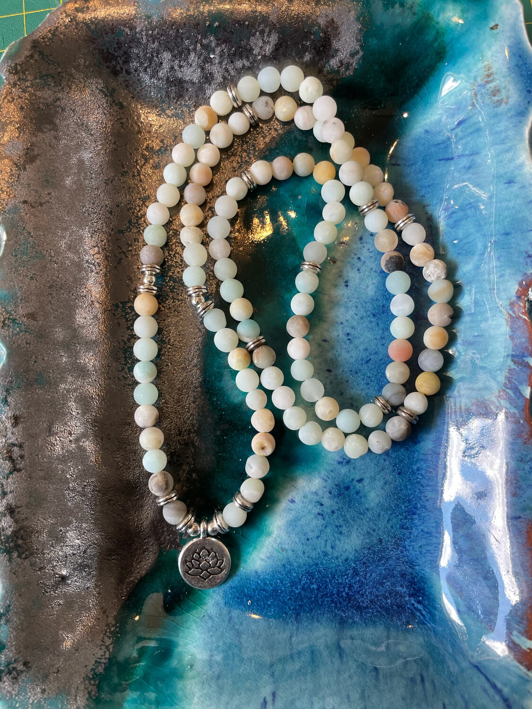 Lotus Mala-8mm Beads