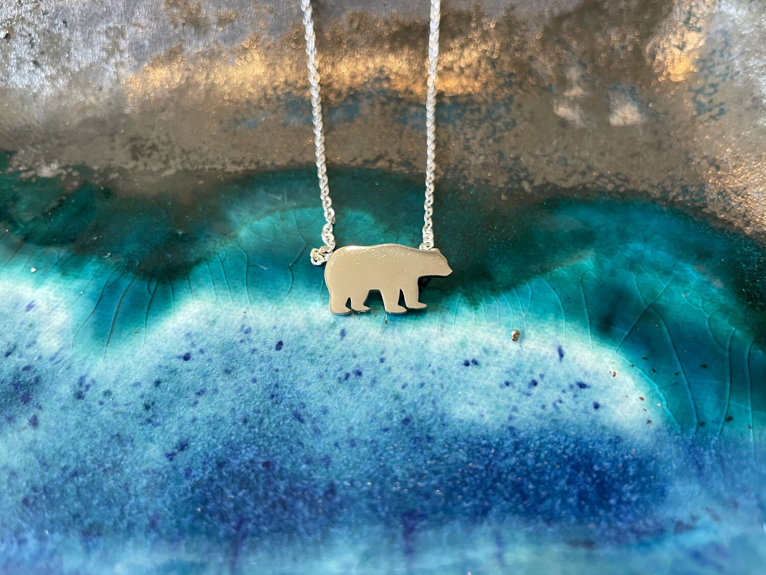 Mini Bear Necklace - Stainless Steel