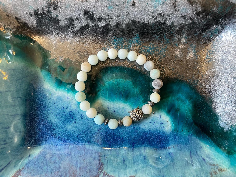 Owl Bracelet-10mm Beads