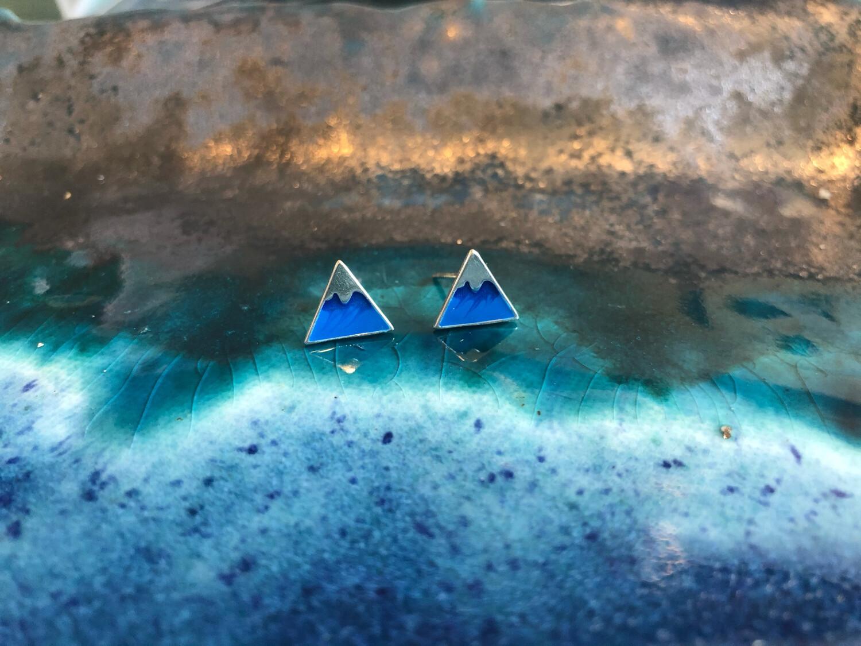 Mountain Earrings-Blue Peak