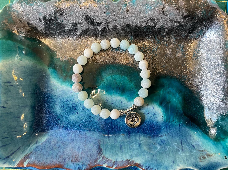 Om Bracelet-10mm Beads