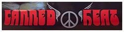 Canned Heat Bumper Sticker (Black on Red)