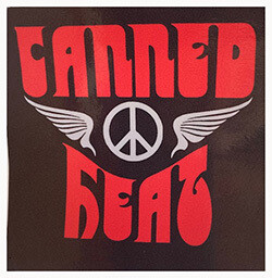 Canned Heat Sticker 4x4 Red On Black
