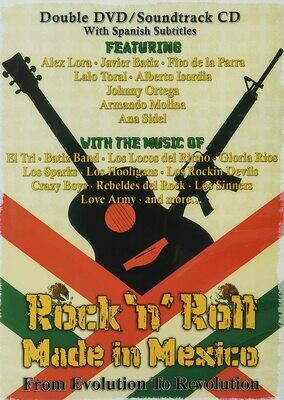 Rock 'n' Roll Made in Mexico CD/DVD w/ Spanish Subtitles 2 Disk Set/Soundtrack