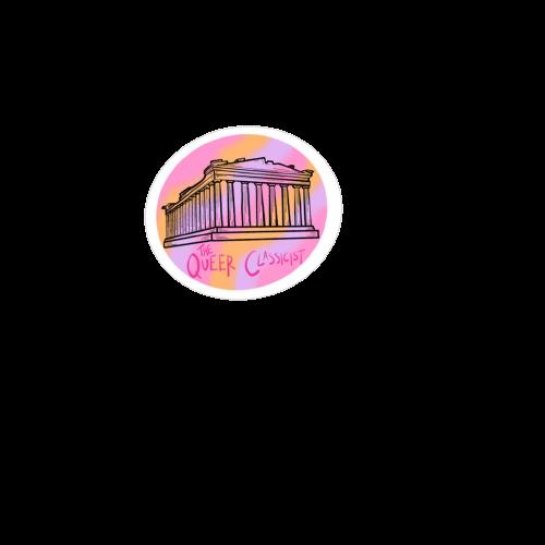 Lesbian Parthenon Sticker