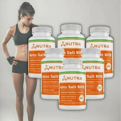 Keto Salt BHB 60 Caps - 6 Bottles