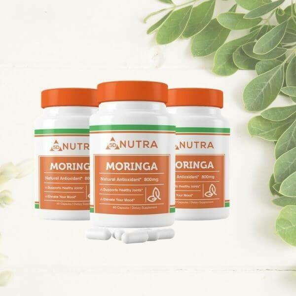 Moringa Oleifera (Leaf) 60 Caps - 3 Bottles