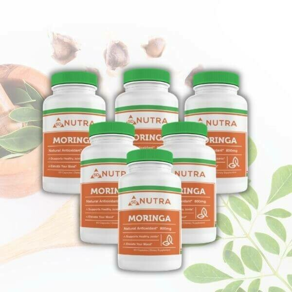 Moringa Oleifera (Leaf) 60 Caps - 6 Bottles