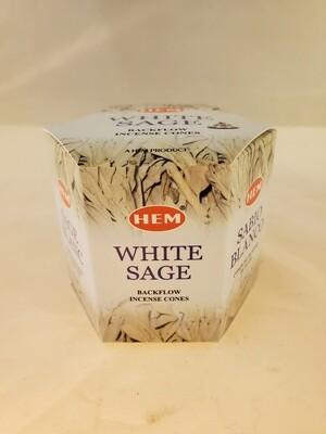 White Sage Backflow Cones