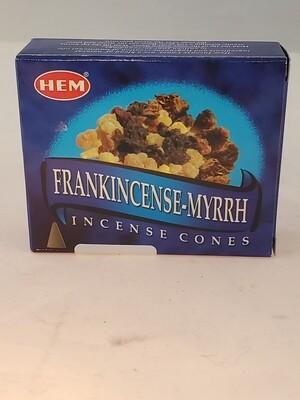 Frankincense- Myrrh Incense Cone 10 ct