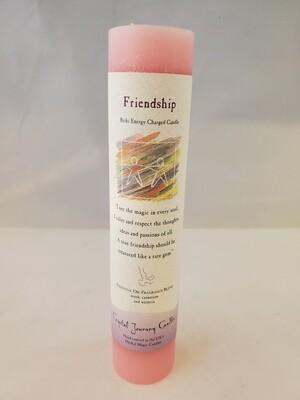 Friendship Pillar Candle