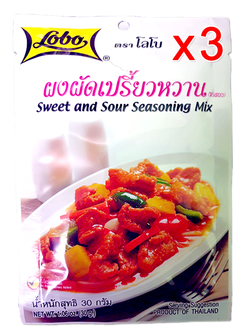 Sweet And Sour Seasoning Mix 30g (Pack 3) | ผงผัดเปรี้ยวหวาน 30g (Pack 3)
