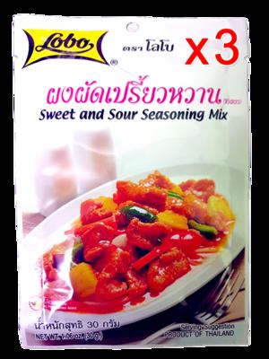 Sweet And Sour Seasoning Mix 30g (Pack 3)   ผงผัดเปรี้ยวหวาน 30g (Pack 3)