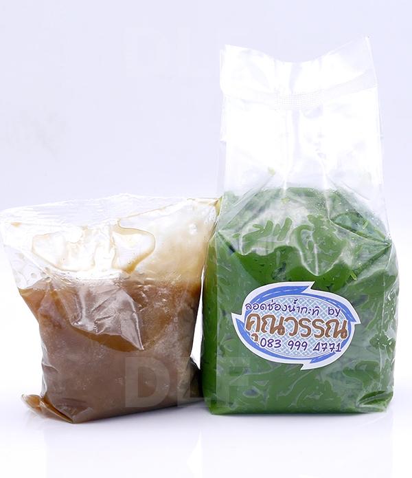 Lod Chong in Coconut Milk | ลอดช่องน้ำกะทิ