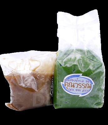 Lod Chong in Coconut Milk   ลอดช่องน้ำกะทิ