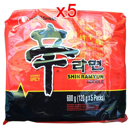 บะหมี่เกาหลีรสเผ็ด 120g (Pack 5)