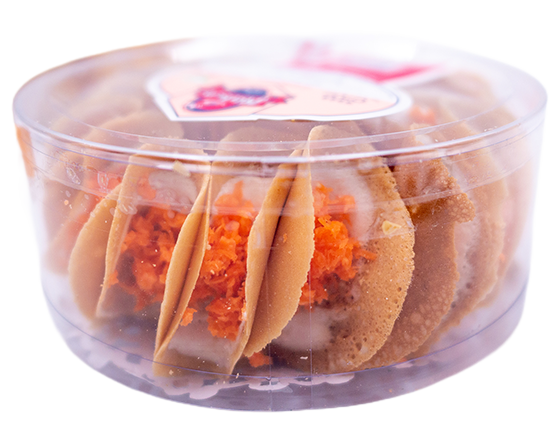 Thai Crispy Pancake (Salty Flavor) | ขนมเบื้องกรอบ ไส้เค็ม