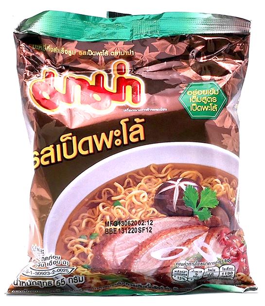 Instant Noodles Pa-Lo Duck Flavor | บะหมี่กึ่งสําเร็จรูป รสเป็ดพะโล้