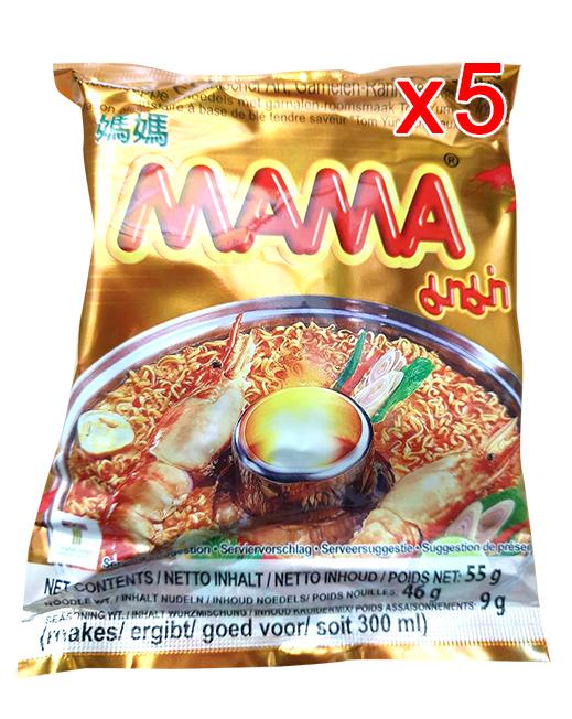 Instant Noodles Shrimp Creamy Tom Yum Flavour 55g (Pack 5)   ต้มยำกุ้งน้ำข้น 55g (Pack 5)