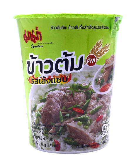 Cup Instant Rice Soup With Spicy Leng Soup Flavour | ข้าวต้มคัพ รสเล้งแซ่บ