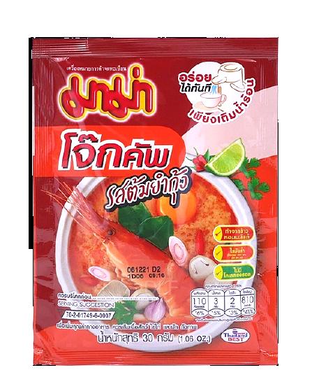 Instant Rice Porridge Shrimp Tom Yum Flavour (Pack) | โจ๊กคัพ รสต้มยำกุ้ง (ซอง)