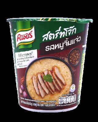 Instant Jasmine Rice Porridge Pork Jeaw Spicy Sauce Flavour | โจ๊กข้าวหอมมะลิกึ่งสำเร็จรูป รสหมูจิ้มแจ่ว