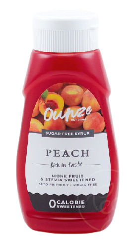 Peach Keto Syrup   ไซรัปหญ้าหวาน กลิ่นพีช