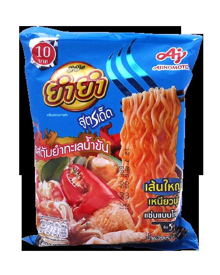 Instant Noodles Tom Yum Seafood Creamy Flavour | บะหมี่กึ่งสำเร็จรูปรสต้มยำทะเลน้ำข้น