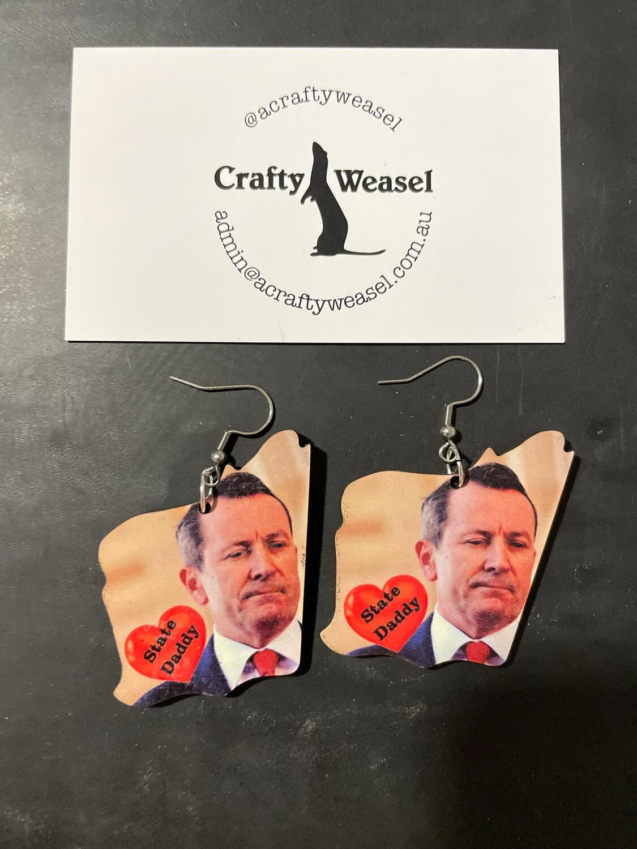 State Daddy Earrings