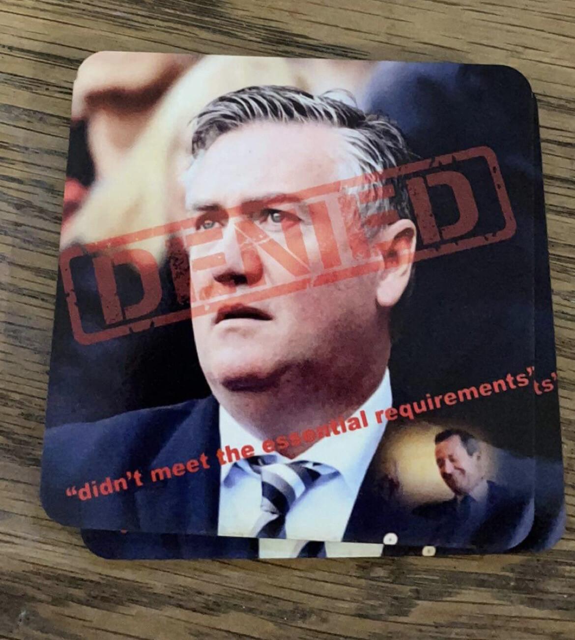 McGuire Denied Entry Coasters