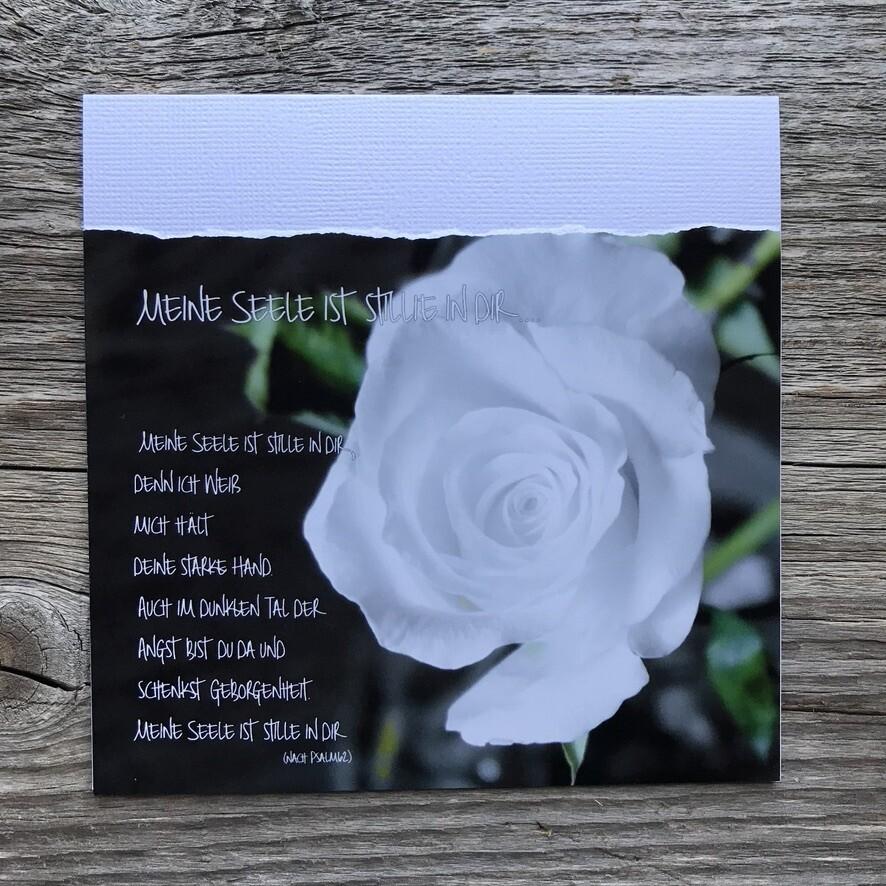 Trauer-Fotokarte