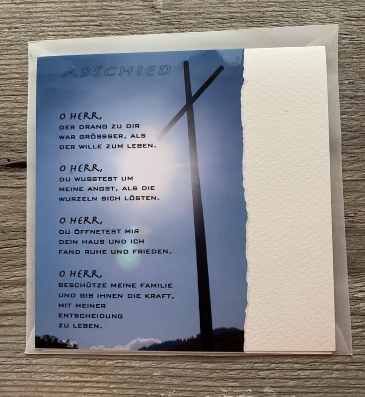 Trauer-Fotokarten-Aus eigenem Entschluss