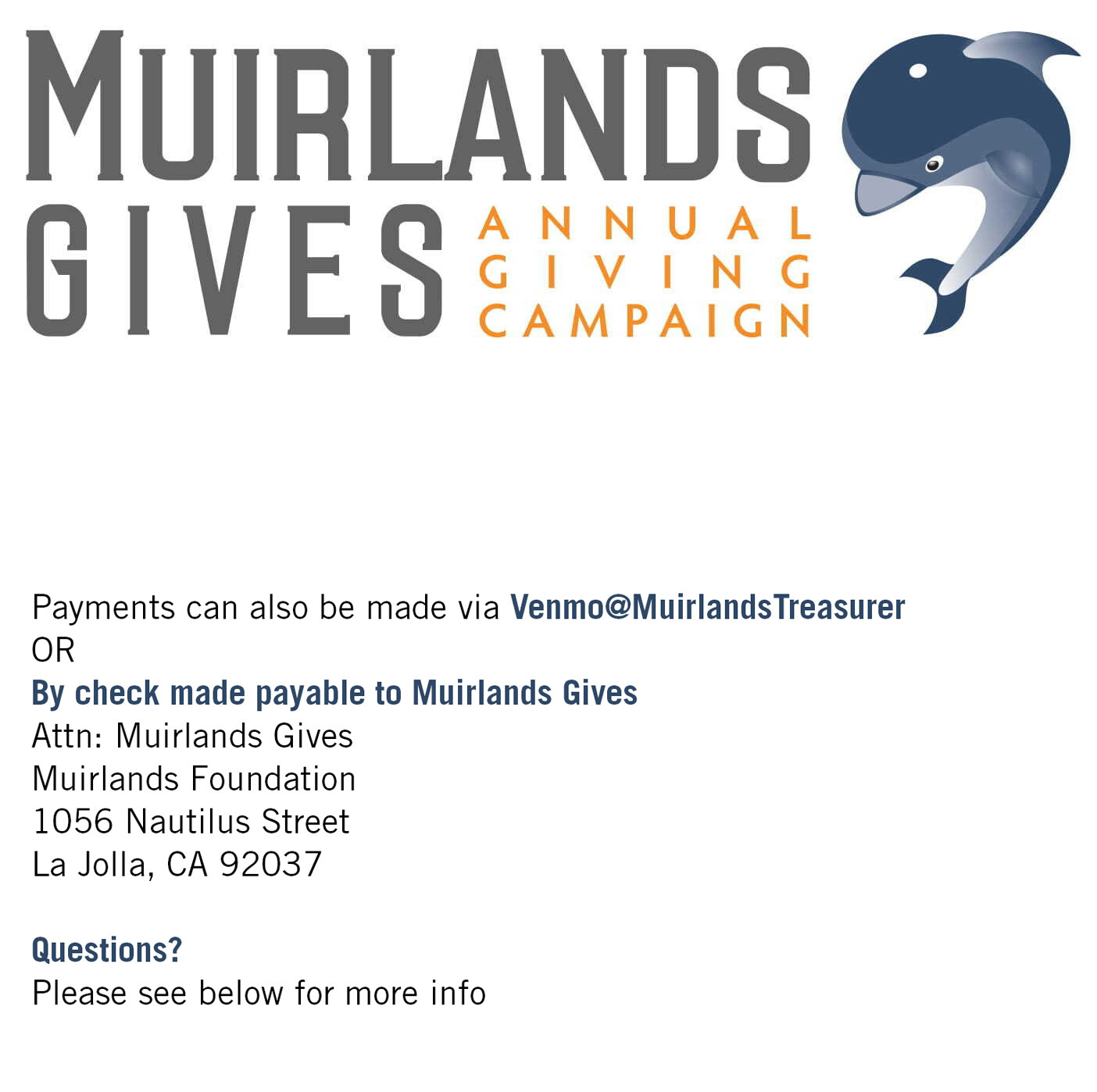 Muirlands Gives Donation - Choose Your Amount