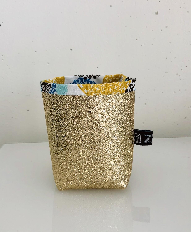 Utensilo klein gold/gemustert