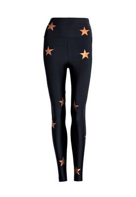 Legging Lycra® Cós Stars Black Gold