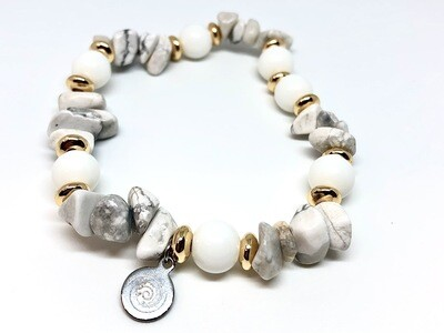 Protection - White Turquoise & Tridacna ( only one piece available)