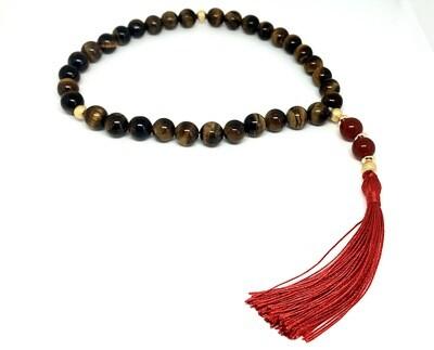 Tasbih 33 Beads - Natural Tiger's Eye & Red Agate