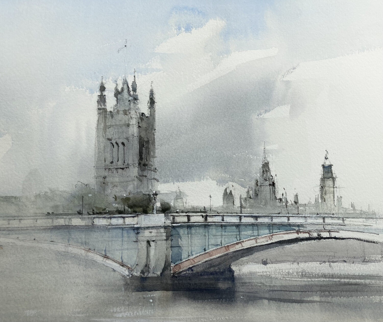 Lambeth Bridge and Westminster, London