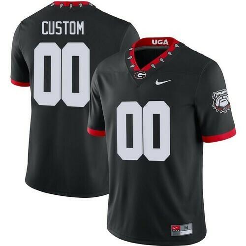 Georgia Bulldogs Custom Jersey Black College Football