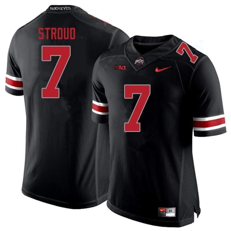 Ohio State Buckeyes 7 C J Stroud Blackout NCAA College Football Jersey