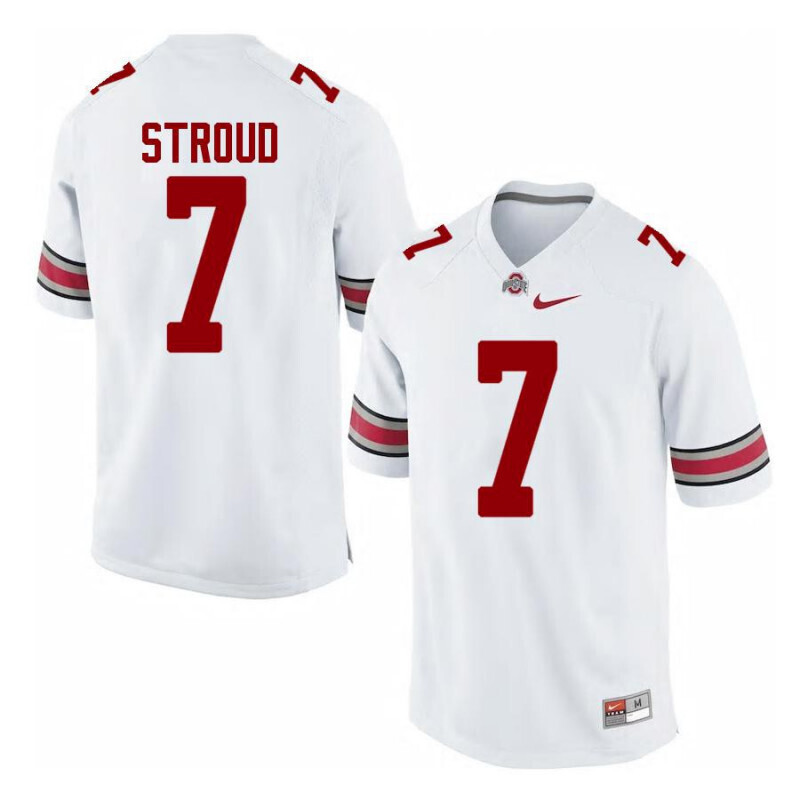 Ohio State Buckeyes 7 C J Stroud Limited White Football Jersey