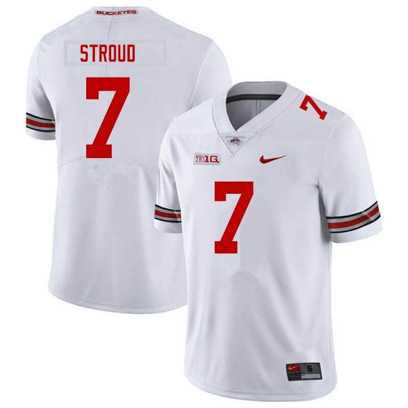 Ohio State Buckeyes 7 C J Stroud White NCAA College Football Jersey