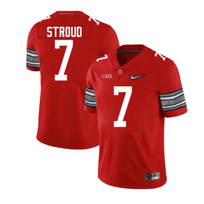 Ohio State Buckeyes 7 C J Stroud Limited Red Alumni Football Jersey