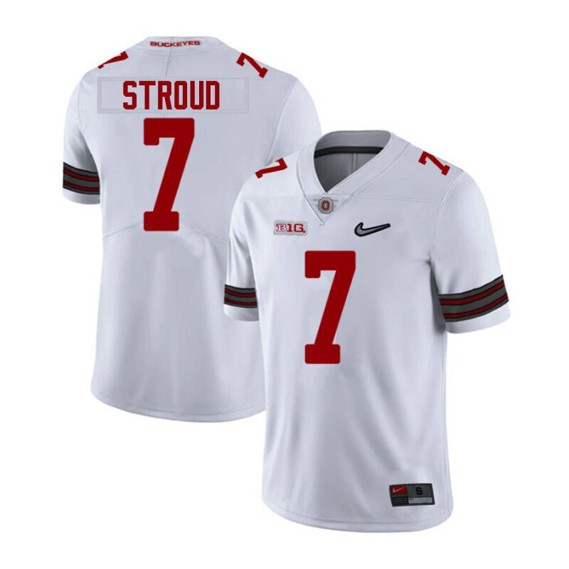 Ohio State Buckeyes 7 C J Stroud Limited White Alumni Football Jersey