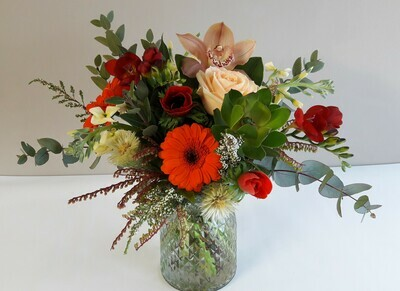 Posy in Vase Bright