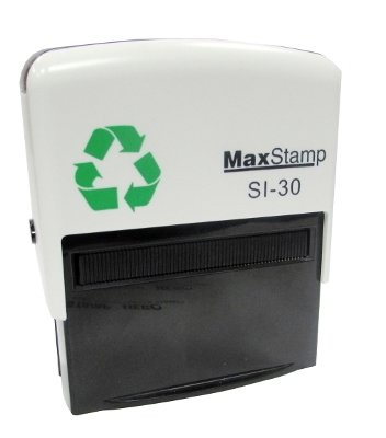 30 x 69mm Max Stamp Standard Self Inking  Black (Max 3 lines of short text)