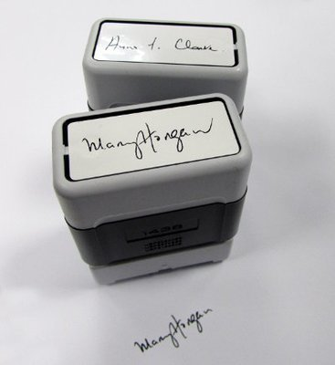 Signature Stamp (Red/Blue or Black text) 18/50 mm